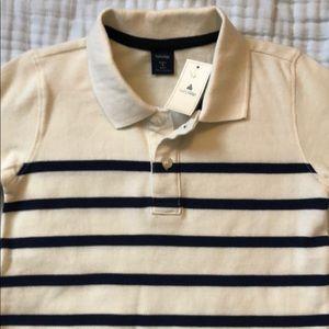 NWT Boys BabyGap White/Navy striped polo